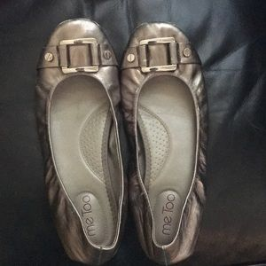 Me Too Silver flats with Buckle